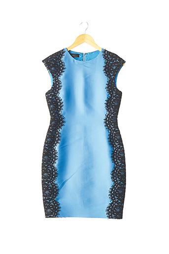 Robe mi-longue bleu CAROLINA HERRERA pour femme
