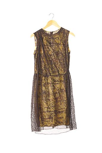 Robe mi-longue jaune BOTTEGA VENETA pour femme