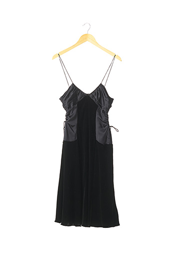 Robe mi-longue noir HUGO BOSS pour femme