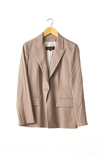 Veste chic / Blazer marron APOSTROPHE pour femme