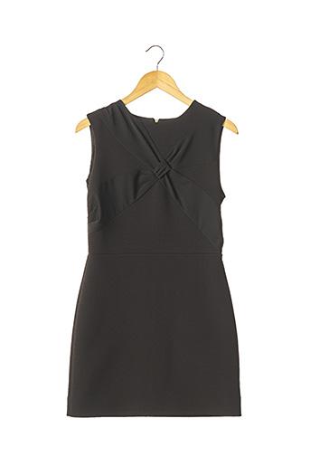Robe courte noir AVC pour femme