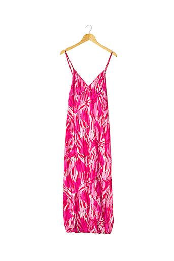 Robe longue rose CAPUCINE PUERARI pour femme