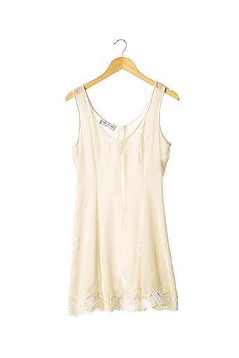 Robe mi-longue beige FANNY LIAUTARD pour femme