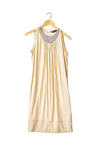 Robe mi-longue beige MOSCHINO pour femme