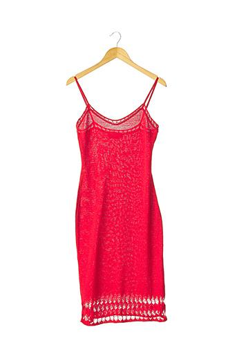 Robe mi-longue rouge CORINNE COBSON pour femme