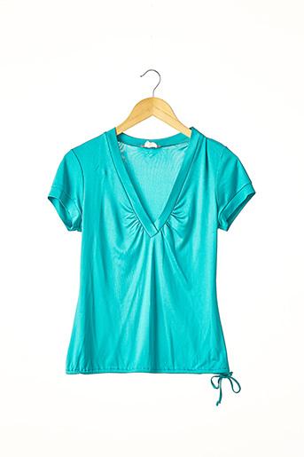 T-shirt manches courtes bleu JEROME L'HUILLIER pour femme