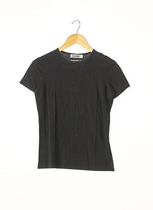 T-shirt manches courtes noir JIL SANDER pour femme