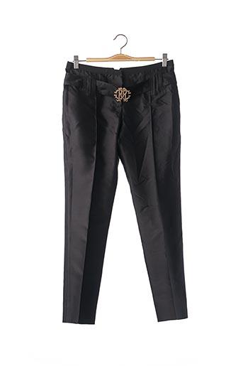 Pantalon chic noir ROBERTO CAVALLI pour femme