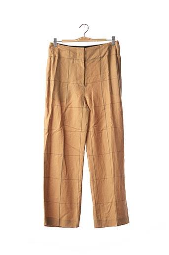 Pantalon casual beige BY MALENE BIRGER pour femme