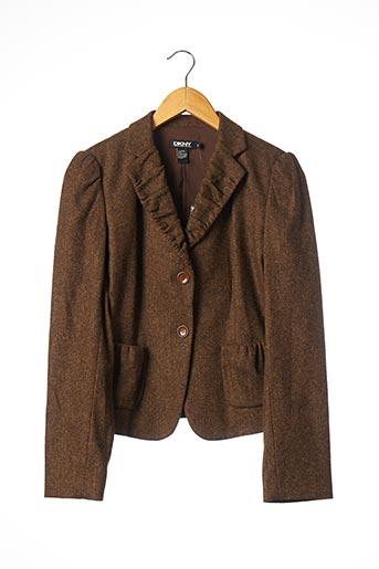 Veste chic / Blazer marron DKNY pour femme