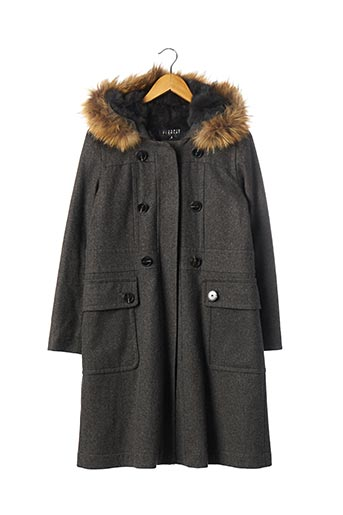 Manteau long gris CLAUDIE PIERLOT pour femme