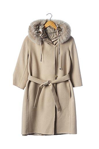 Manteau long gris MAXMARA pour femme
