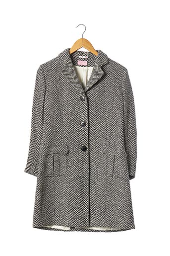 Manteau long noir CURLING pour femme