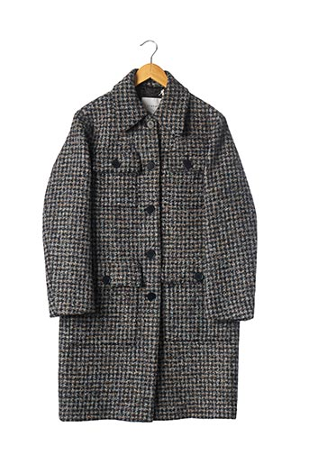Manteau court bleu JIGSAW pour femme