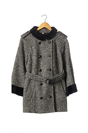 Manteau court gris BURBERRY pour femme