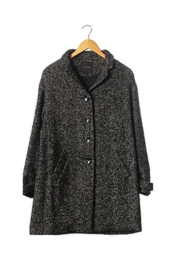 Manteau court gris MAJE pour femme