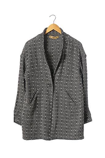 Manteau court noir MAISON OLGA pour femme