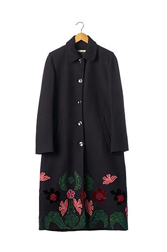 Manteau long noir ANABELA BALDAQUE pour femme