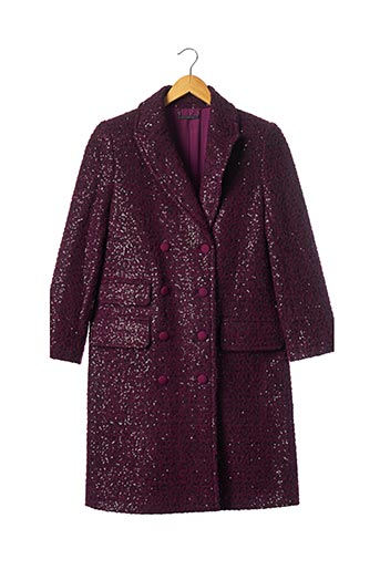 Manteau long violet DIANE VON FURSTENBERG pour femme