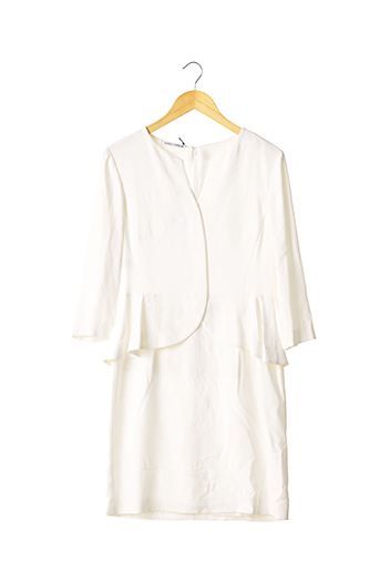 Robe mi-longue blanc ALBERTA FERRETTI pour femme