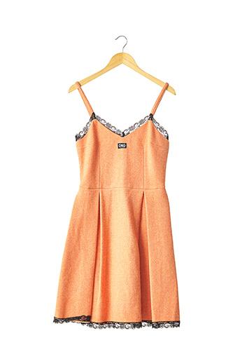Robe mi-longue orange DOLCE & GABBANA pour femme