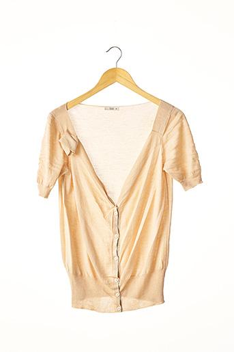 Gilet manches courtes beige PRADA pour femme