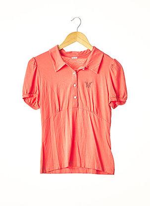 Polo manches courtes orange MARIE.VALOIS pour femme