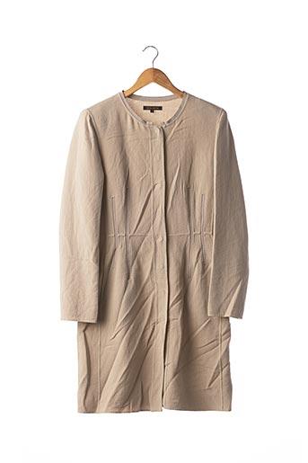 Manteau long beige APOSTROPHE pour femme