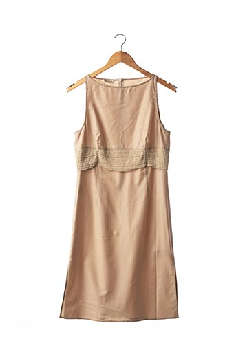 Robe mi-longue beige ARMANI pour femme