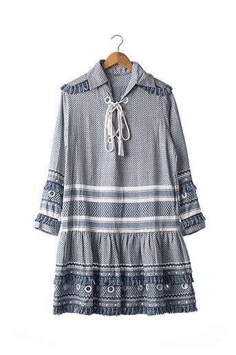 Robe mi-longue bleu DODO BAR OR pour femme