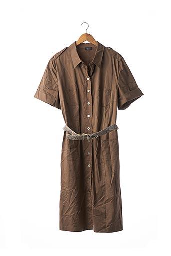 Robe mi-longue marron BASLER pour femme