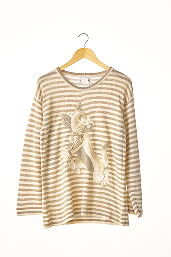 Pull col rond beige ICEBERG pour femme
