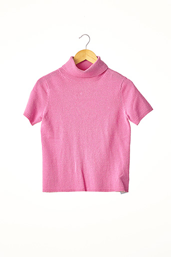 Pull col roulé rose ERIC BOMPARD pour femme