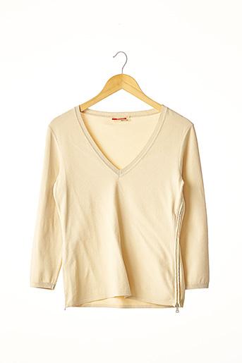 Pull col V beige PRADA pour femme