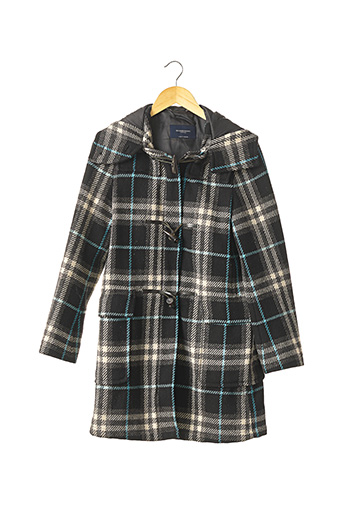 Manteau long noir BURBERRY pour femme