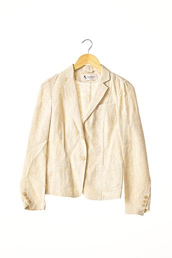 Veste chic / Blazer beige EMILIANO pour femme