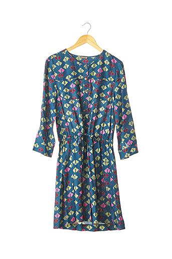 Robe mi-longue bleu MALIPARMI pour femme