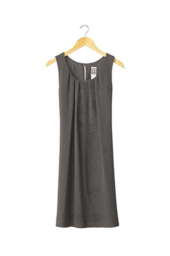 Robe mi-longue gris EN ATTENDANT BEBE pour femme