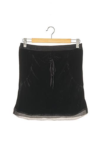 Jupe mi-longue noir COSTUME NATIONAL pour femme