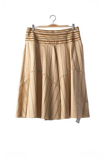 Jupe mi-longue beige ARMAND VENTILO pour femme