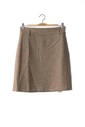 Jupe mi-longue marron FRANCK NAMANI pour femme