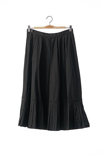Jupe mi-longue noir DIVINE pour femme
