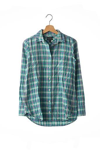 Chemise manches longues vert J.CREW pour homme