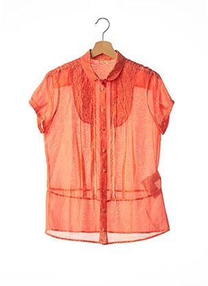 Chemisier manches courtes orange HUGO BOSS pour femme