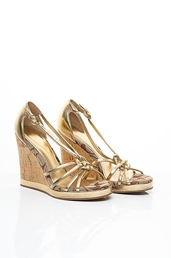 Sandales/Nu pieds jaune COACH pour femme