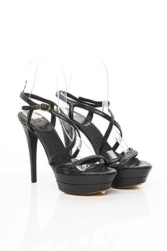 Sandales/Nu pieds noir DONNA KARAN pour femme