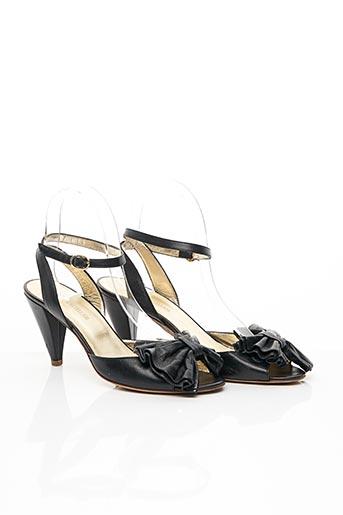 Sandales/Nu pieds noir FLAVIO pour femme