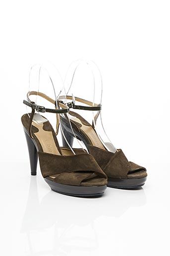 Sandales/Nu pieds vert CHLOE pour femme
