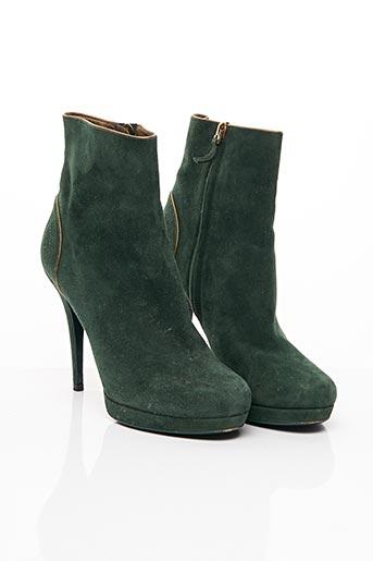 Bottines/Boots vert YVES SAINT LAURENT pour femme