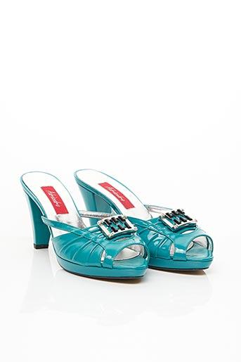 Mules/Sabots bleu ADRIANDRO pour femme